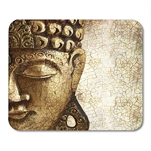 - Emvency Mouse Pads Face Old Golden Buddha Wisdom Head Buda God Freedom Mousepad 9.5