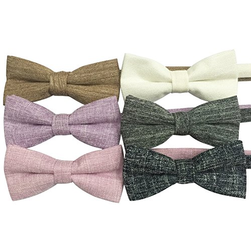 AINOW Mens Pre-tied Formal Casual Adjustable Length Cotton Bowtie Fashion Tie