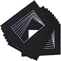 50 set of Black 12x16 Photo Mats for 8x12 + backing + bags