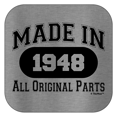 70th Birthday Gift Made 1948 All Original Parts T-Shirt XL Sport Grey by ThisWear (Image #2)