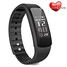 Fitness Tracker with Heart Rate Monitor, Iwownfit i6 HR Wireless Smart Bracelet,IP67 Waterproof smart watch with step tracker, Pedometer,Sleep Tracker,Calorie counter with multi color bands