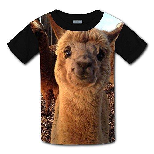 Yangjio T-Shirts Smile Llama Costume Xl Short Sleeve For Youth ()