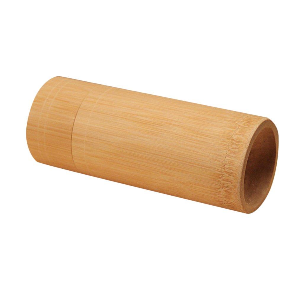 Dolity Tubo de Bambú Redondo Canistertea Barril Matcha Té Caja Lata de Té Accesorios - Estilo 1