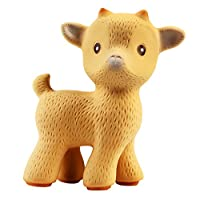 CaaOcho Friends - Sola the Goat Teething Toy (Tan) - 100% Pure Natural Rubber...