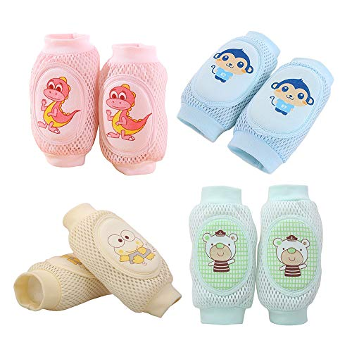Carton Pad - Baby Crawling Baby Knee Pads For Crawling Baby Leg Warmers Anti-Slip Knee Socks For Babies Kids girl or boy Multiple Colors Multiple Cartons Summer Adjustable Breathable Protector 0-4 Years Old