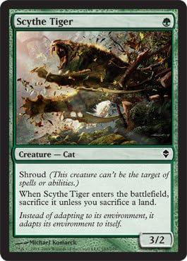 Magic: the Gathering - Scythe Tiger (183) - Zendikar by Magic: the ...