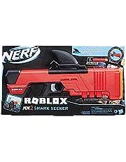 NERF Roblox MM2: Shark Seeker dartblaster, haaienvin-action, 3 mega-darts, code voor het vrijschakelen van een virtueel in-game-item