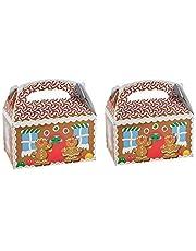 2 Dozen Gingerbread Cardboard Treat Boxes (24 Total)