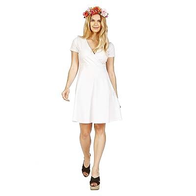 ABAKUHAUS Vestido de Verano de Escote Cruzado para Dama: Ropa y accesorios