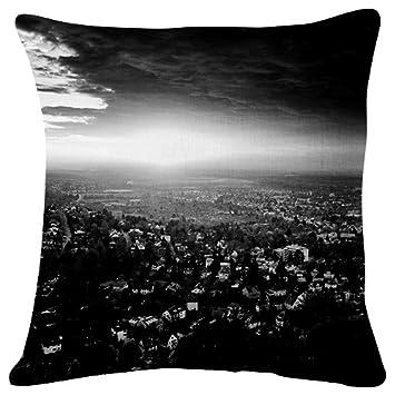 Terrific Amazon Com City Night Top View Light Sky Throw Pillow Machost Co Dining Chair Design Ideas Machostcouk