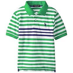 Big Boys' Engineered Striped Polo Shirt