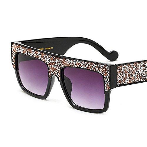 las Gafas conducción para libre de de gafas Playa de Cuadrado de cristal gran la de de grandes la protección UV al mujeres vacaciones sol tamaño de Champagne Champagne aire de sol forma verano de Color nrFgSqwrx8