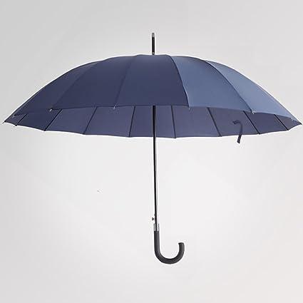 Paraguas de mango largo simple Paraguas de hombre de estilo comercial tamaño grande con tapa (