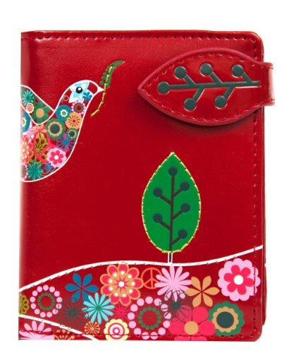 Shagwear Junge-Damen Geldbörse, Small Purse: Verschiedene Farben und Designs: (Friedenstaube Rot/ Peace Dove)