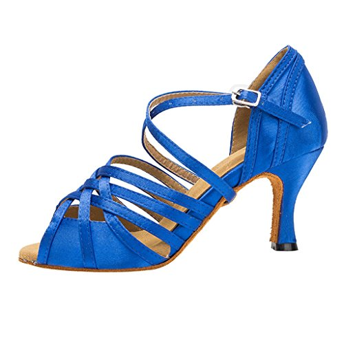 Meijili - plataforma mujer , color Azul, talla 39