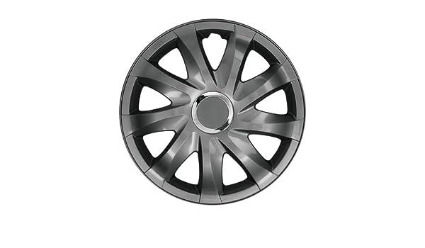 Autoteppich Stylers RKK - Tapacubos universal (16 pulgadas, DFT, para casi todos los coches), color negro grafito: Amazon.es: Coche y moto
