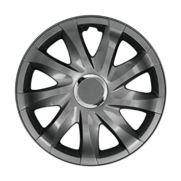 Grey Hubcap Wheel Cover 16 Inch for Seat Alhambra, Altea, EXEO, IBIZA, CORDOBA, LEON, TOLEDO: Amazon.co.uk: Car & Motorbike