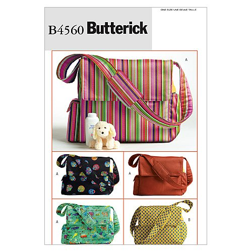 Butterick Patterns B4560 Diaper Bags, One Size Only