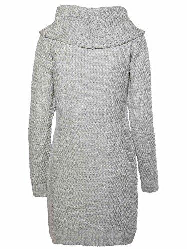 Loop Kleid Knit Nr Damen Artikel MOGUL 1318 17314716 Mél Erina Grey twPTq6A