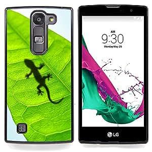 For LG Volt 2 / LG G4 Mini (G4c) - Cute Lizard Leaf Reptile Gecko /Modelo de la piel protectora de la cubierta del caso/ - Super Marley Shop -