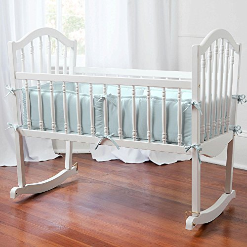 Carousel Designs Solid Robin's Egg Blue Cradle Bumper
