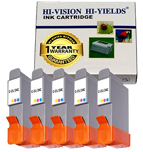 (HI-VISION Compatible Canon BCI-24 BCI24 5 Pieces Color ink jet Relacement Cartridge for PIXMA iP1500, iP2000, MultiPASS MP390, MP370, S200 )
