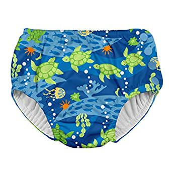 i play. Snap Reusable Absorbent Swimsuit Diaper-Royal Blue Turtle Journey, Blue, 6 Months