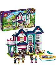 LEGO 41449 Friends Andrea's Familiehuis Set, Poppenhuis met Zwembad en Muziekstudio, Speelgoed voor Kinderen vanaf 6 Jaar