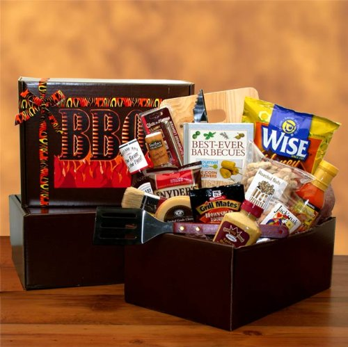 For the Master of the Barbecue - Great Gift for Fathers Day, Birthday, Holidays or Any (Barbecue Sauce Gift Basket)