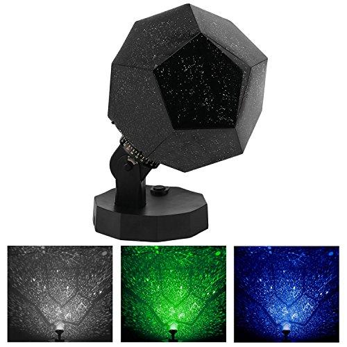 Vakey DIY Star Projector,LED Night Light Projector,Baby Night Light Star Projection with 3 Bulbs Baby Nursery Night Light