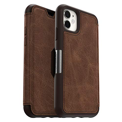 OtterBox STRADA SERIES Case for iPhone 11 - ESPRESSO (DARK BROWN/WORN BROWN LEATHER)