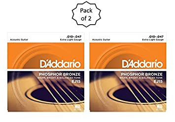 D/'Addario EJ-15 Phosphor Bronze extra Light Acoustic Guitar Strings 10-47