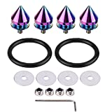 Qiilu 1 Set Quick Release Fasteners Kit for Car Truck Spike Bumpers Hatch Lids Aluminum Full Color