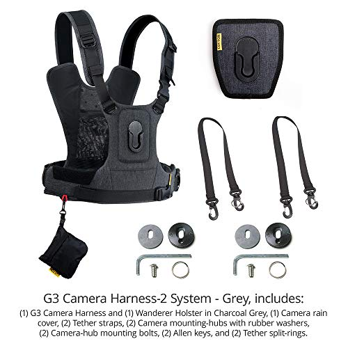 Cotton Carrier G3 Dual Camera Harness for 2 Camera's Gray by Cotton (Image #2)