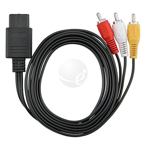 Gen New AV Video Cable Cord for Nintendo 64 N64 TV Game (Bulk Packaging)