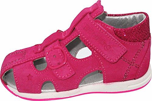 Helgas Modewelt Däumling Kaya, Kleinkinder Sandalen, Lauflernschuhe, Sommerschuhe pink (Turino ciclamino)