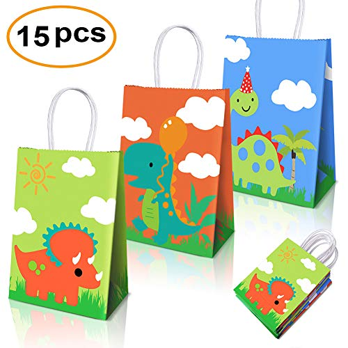 Dinosaur Party Supplies Favors,Dinosaur Party Bags For Dinosaur Theme Birthday Party Decorations Set Of 15 -
