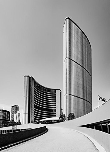 Gifts Delight LAMINATED 20x27 inches POSTER: Toronto Canada City Hall Modern Buildings City Urban Cityscape Black And White Downtown Government (City Canada Hall)
