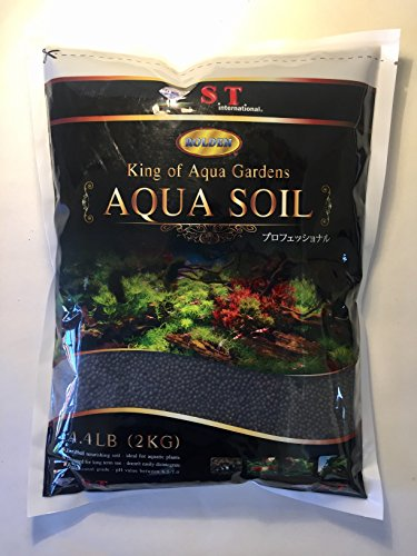 S.T. International Aqua Soil for Aquarium Plants, 4.4-Pound, Black (Best Soil Substrate For Planted Aquarium)