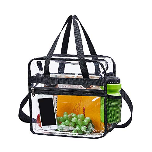 - Magicbags Clear Bag Stadium Approved,NCAA NFL&PGA Security Approved Clear Tote Bag with Multi-Pockets and Adjustable Shoulder Strap,Perfect for Work, School, Sports Games and Concerts-12