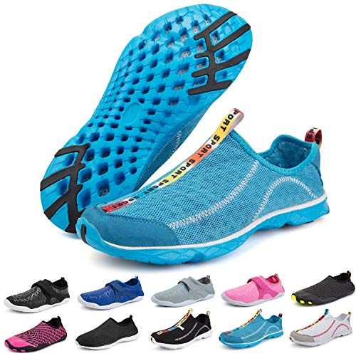 Bridawn Mens Womens Water Shoes, Quick Dry Barefoot Sock Aqua Sport Shoes for Swim Diving Surf Pool Beach Walking Yoga ()