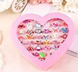 Zhahender Little Girls Accessory Jewellery Toy 36 Pcs/Set New Children's Ring Boutique Love Gift Box Ring (Alloy Ring)