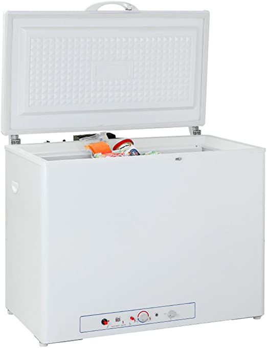 Camper,7.1 Cu ft,White Garage SMETA 110V//LP Propane Deep Chest Freezer Single Door 2-Way 110 volt Gas Indoor//Outdoor Compact Refrigerator for Dorm