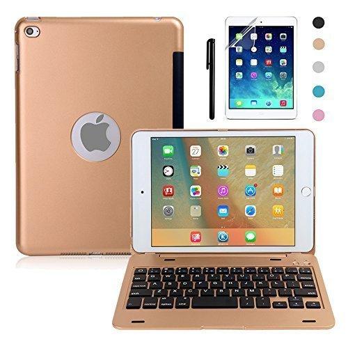amazon com ipad mini 4 keyboard case, boriyuan bluetooth wireless