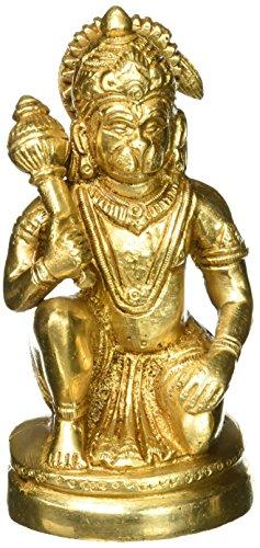 Hindu God Statue Hanuman Devotee of Lord Rama Figurine Indian 5 Inches