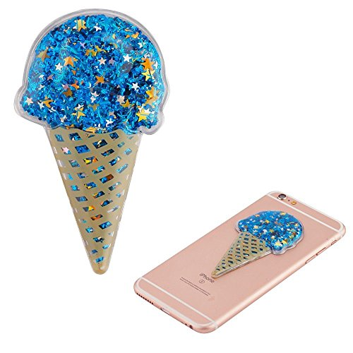 Mybat Ice Cream Quicksand Glitter Sticker, Blue
