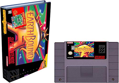 Earthbound (Super Nintendo, SNES) - Reproduction Video Game Cartridge with Universal Game Case