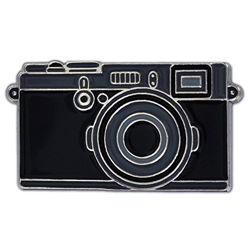 PinMart Black Camera Photography Lover Enamel Lapel Pin Lapel Womens Pins