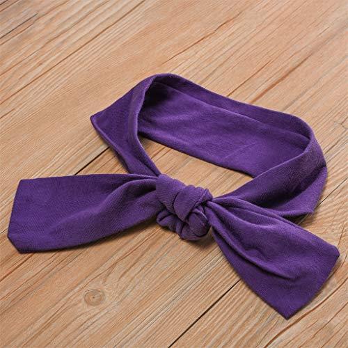 NUWFOR Newborn Kid Baby Girls Short Sleeve Print Tops+Stripe Pants Outfits Set(Purple,4-5 Years) by NUWFOR (Image #5)