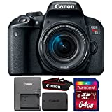 Canon EOS Rebel T7i 24.2MP DSLR Camera with 18-55mm IS STM Lens and 64GB Memory Card